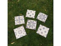 Funky wall/floor tiles