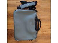 Laptop Tablet Silver Carry Bag Office Briefcase Case Shoulder Satchel