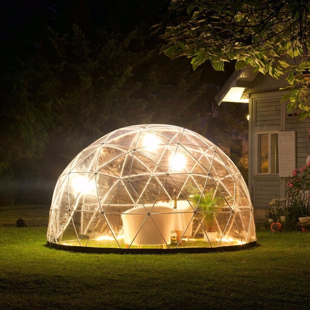 Garden Igloo Gazebo Green House 360 Geodesic Dome And Pvc