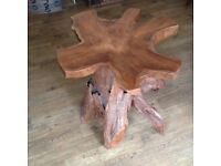 Tree root coffee size table