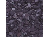 Plum Slate Chippings - 40mm for Landscaping & Driveways - 24 bags, 20kg per bag