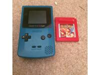 Blue Gameboy color and Pokemon red