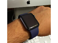 Apple Watch Series 2 (42mm Space Grey Aluminium) with Navy Sport Strap