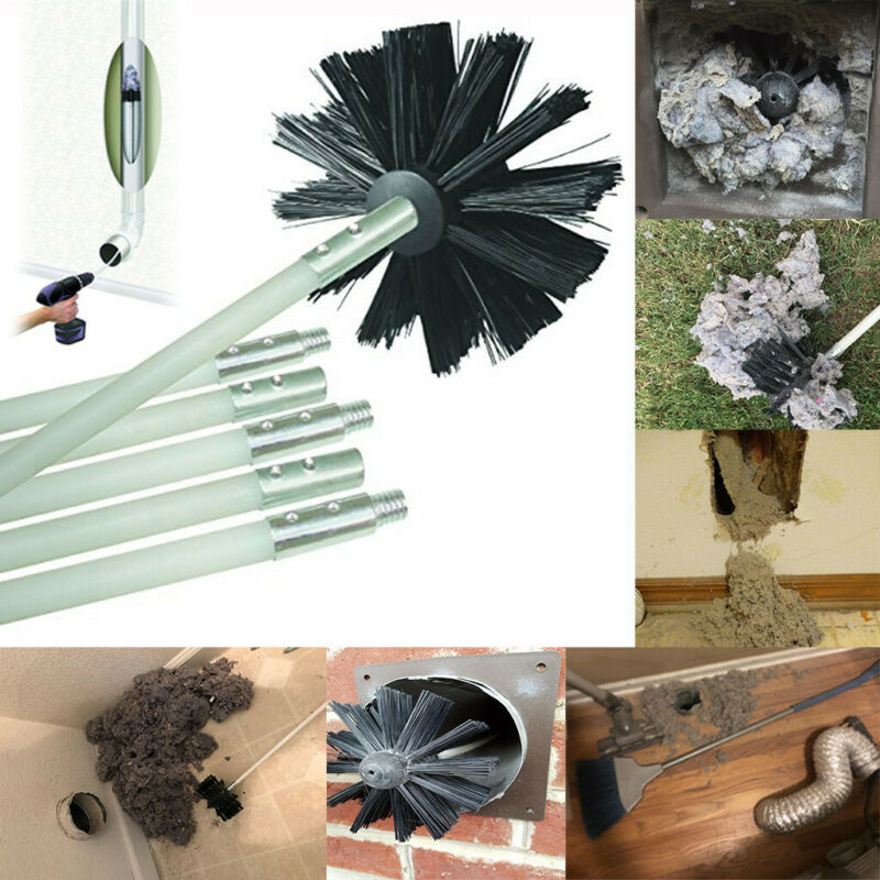 Dryer Duct Cleaning Kit 12 Feet Flexible Cleaner Remover Ven