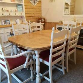 Table and 6 x chairs