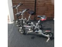 For sale 2 folding electric bikes
