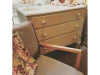 Vintage professionally upcycled chest of drawers free delivery not shabby chic