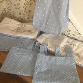 I love my bear bedding and curtain set
