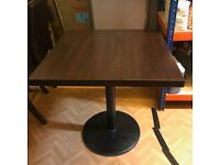Single Pedestal 70cm Square Cafe-Style Table. Excellent Condition