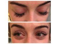 Individual eyelash extensions and LVL lashes