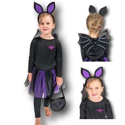 Mädchen Kleinkind Fledermaus Kostüm Lila Tutu Fairy Kind Vampir Halloween 3-4 - Kleine Mädchen Tutu Schwarz Kostüm