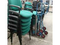 selection of stackable chairs