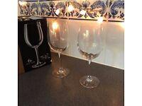 2 x 6 large wine glasses - commerical quality, dishwasher safe, 16 oz, boxed