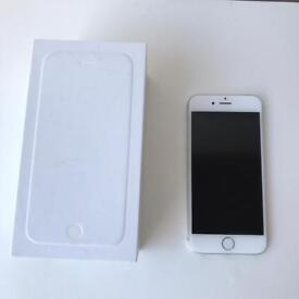 Apple IPhone 6 , 16GB, silver, damaged, for spares or machine parts