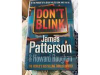 James Patterson don't blink hardback book
