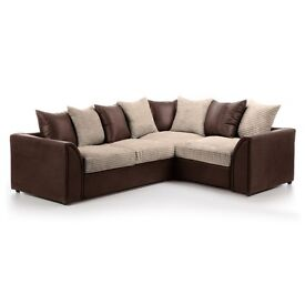 * 1 YEAR WARRANTY * BRAND NEW BYRON LARGE CORNER SOFA OR SOFA BED ON SPECIAL OFFER