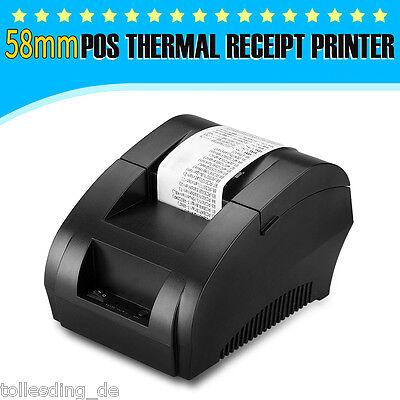 58mm USB Thermodrucker Kassendrucker Bondrucker Drucker Receipt Printer POS Sale