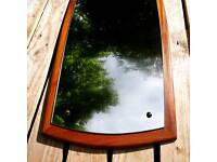 A lovely vintage retro teak mirror