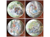 """Set of 4 Wedgwood """"Wind in the Willows """" collectable plates"""