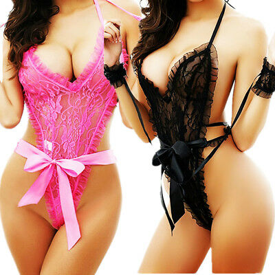 Sleepwear-Women Robes Teddy Lace-Underwear-Babydoll-Nightwear Sexy-Lingerie Set - Floral Robe