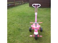Girls Pink Trike with Handle