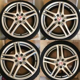 """Honda Civic Type R alloys FN2 19"""" Rage with tyres"""