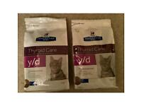 Cat Food, Hills Prescription Diet Thyroid Care y/d biscuits for Cats