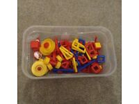 Box of Mobilo construction toy