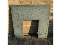 Grey Marble Back Fire Surround