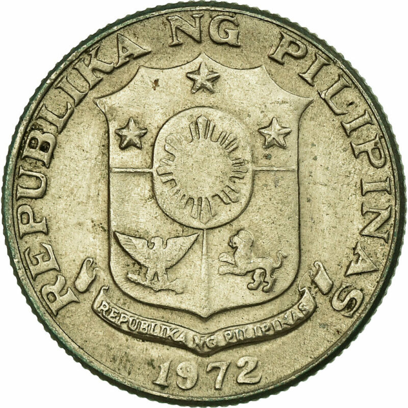 [#703732] Coin, Philippines, 10 Sentimos, 1972, VF(30-35), Copper-nickel, KM:207