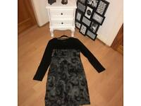 Casual black&grey dress