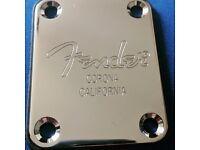 Guitar Neck Plate, Fender Logo