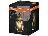 5 X OSRAM Vintage 1906 LED / LED light bulbs, retro design, Edison bulb shape: E27, 4 W