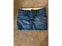 Superdry mini denim skirt