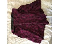 H&M rose print skirt size 16