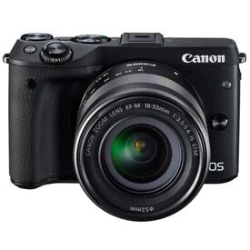 Canon m3 camera with remote control 16g memory card and case