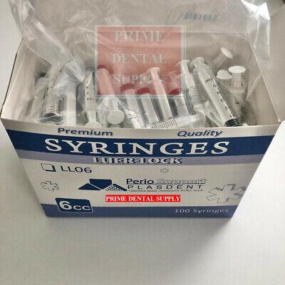 Disposable 6cc Luer Lock Irrigation Syringes Autoclavable Non-sterile 100pcsbox