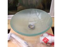 Glass Sink 42cm waste included