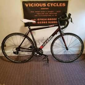 "Mafia bikes tr7 interceptor road bike racer 21"" 54cm frame fulcrum rims gator skin tyres"