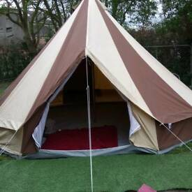 5m bell tent & Vango Nadina 600 6- Berth Family Tent. Excellent Condition. Only ...