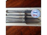 Francophile Cheese Lovers, 4 Piece Cheese Kn Set, Thiers, France - Laguiole NEW with Tags