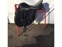 Barnsby saddle, double bridle, bits, girths, hat, rug