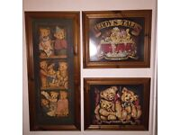 Set of 3 Teddy-Bear Pictures