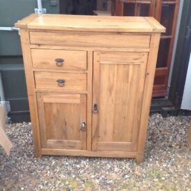 Solid oak side cupboard