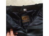 Women's JTS Leather Biker Trousers