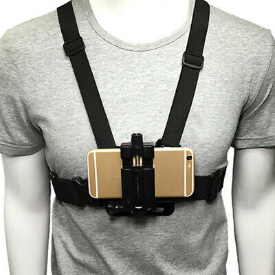Chest Mount Harness Strap Phone Holder Action Camera POV for