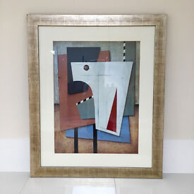 Abstract Art - Framed - 94 x 114 cm - Large