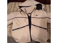 Child's Nike jacket & winter sheepskin jacket with attached mitts