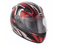 Brand New, Never Used, Stealth Motorcycle Helmet - 59-60cm