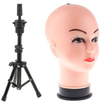 Mannequin Head 26 With Tripod Hairdressing Training Head Holder Wig Stand
